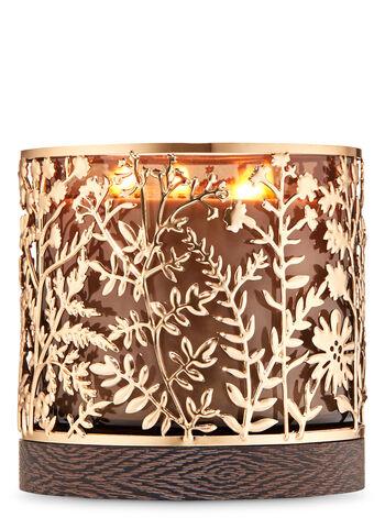 Gold Botanical fragranza 3-Wick Candle Holder