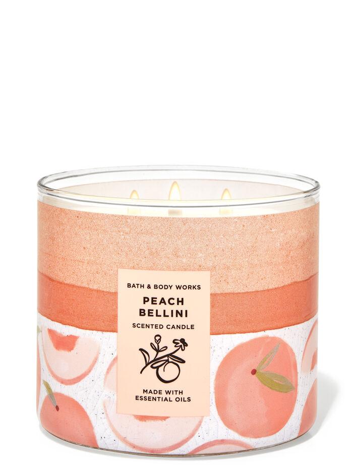 Peach Bellini fragranza Candela a 3 stoppini