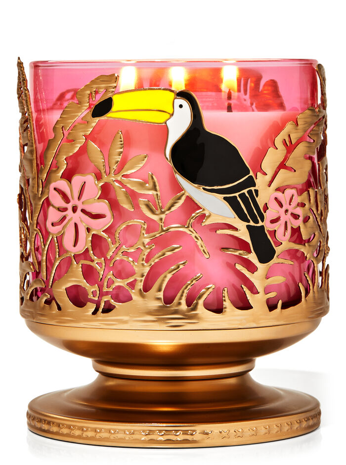 Piedistallo foresta pluviale fragranza Porta candela a 3 stoppini
