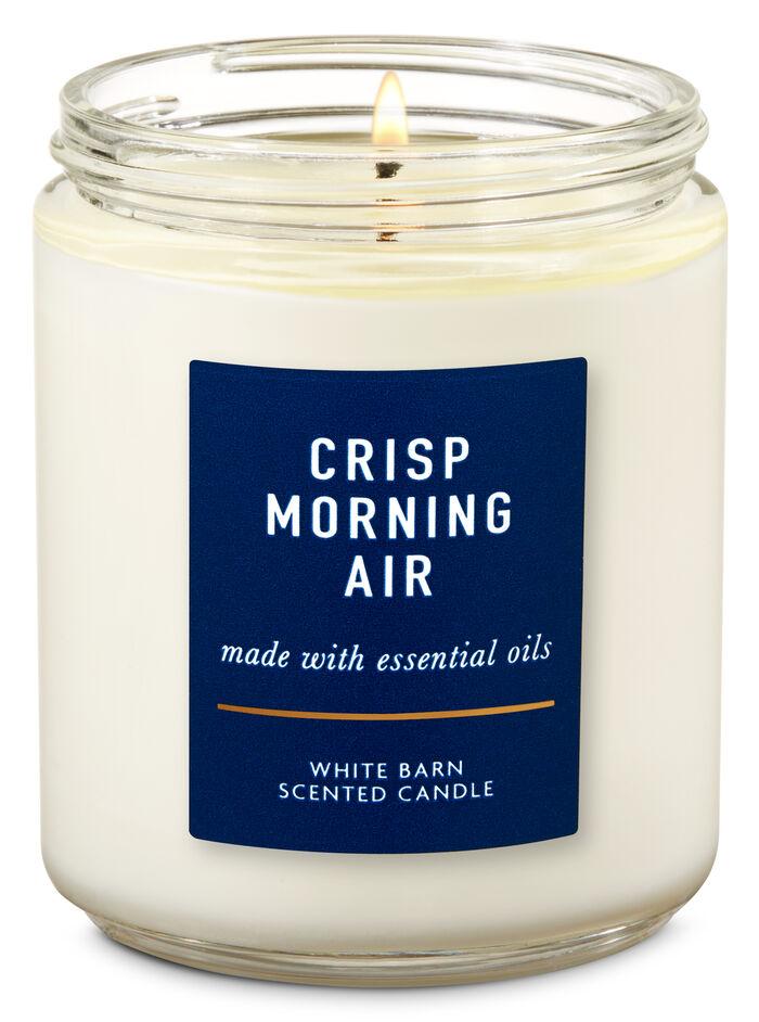 Crisp morning air fragranza Single Wick Candle
