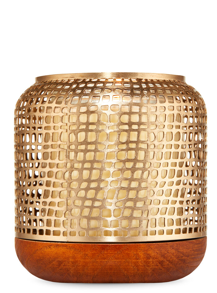 Gold Luminary fragranza Single Wick Candle Holder