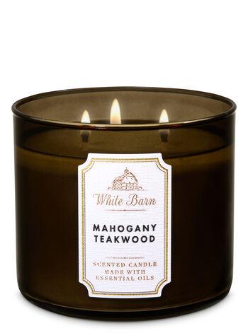 Mahogany Teakwood fragranza 3-Wick Candle