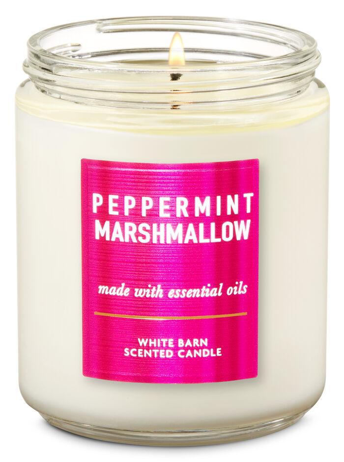 Peppermint Marshmallow fragranza Candela a 1 stoppino