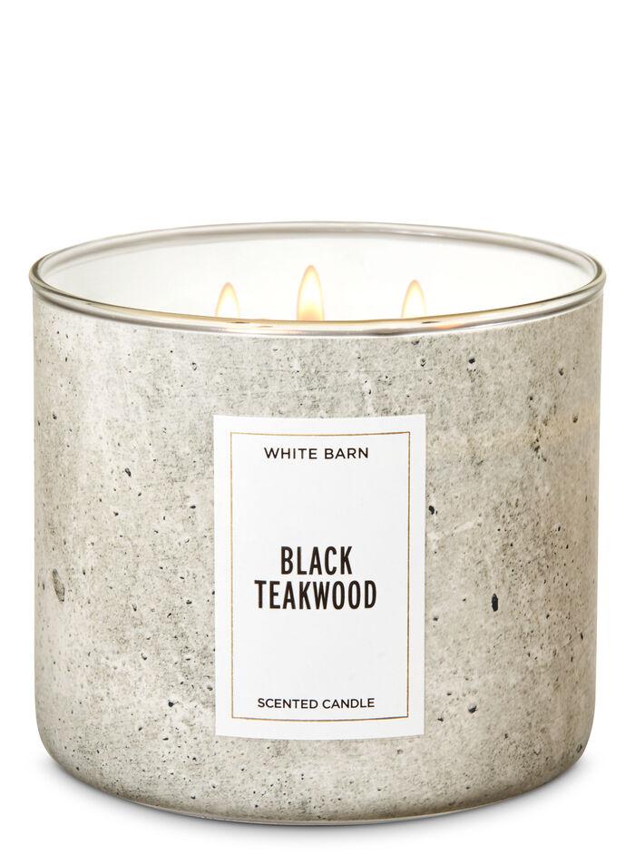 Black Teakwood fragranza 3-Wick Candle