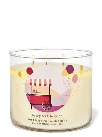 Berry Waffle Cone fragranza Candela a 3 stoppini