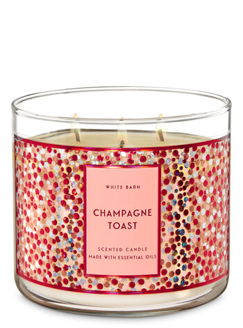 Champagne Toast fragranza Candela a 3 stoppini