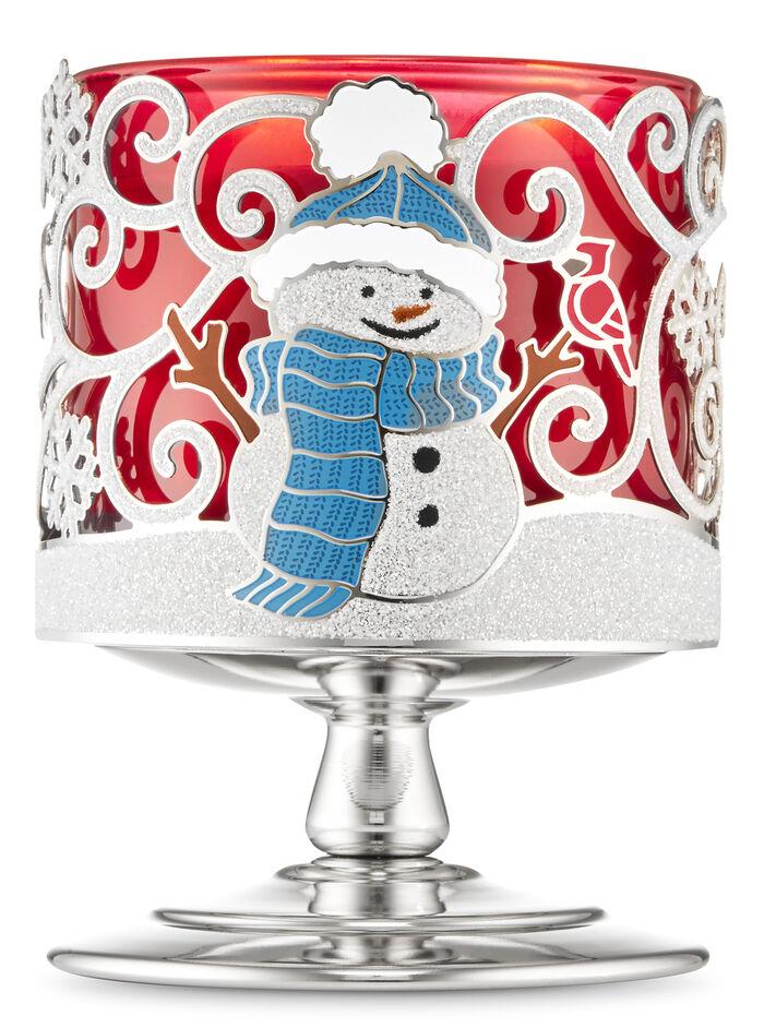 Snow Buddies Pedestal fragranza Porta candela a 3 stoppini
