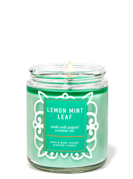 Lemon Mint Leaf fragranza Candela a 1 stoppino
