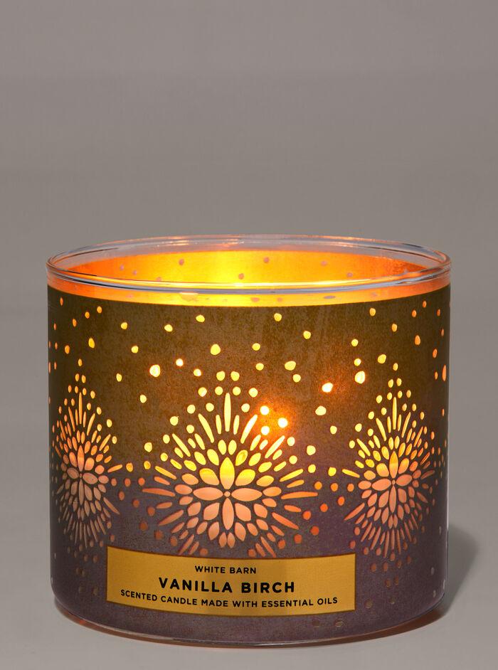 Vanilla Birch fragranza Candela a 3 stoppini