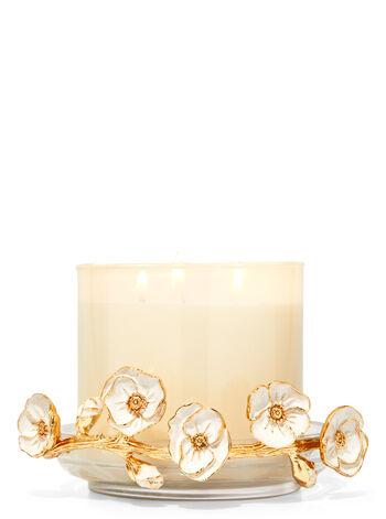Rami in fiore di vetro fragranza Porta candela a 3 stoppini