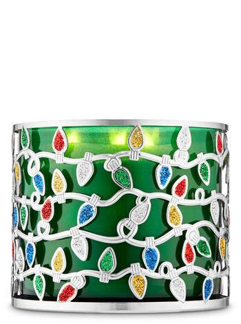 Christmas Lights fragranza Porta candela a 3 stoppini