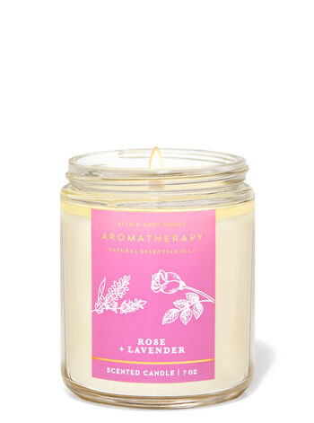 Lavender Rose fragranza Candela a 1 stoppino