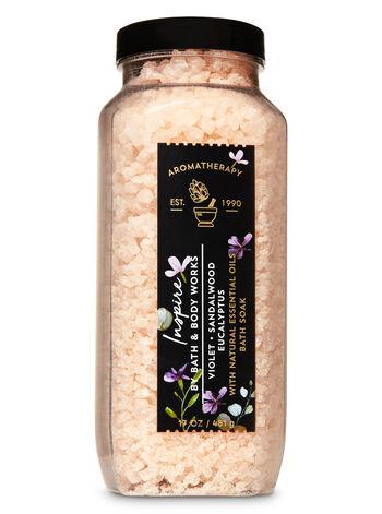 Violet Sandalwood Eucalyptus fragranza Bath Soak