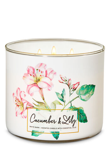 Cucumber & Lily fragranza 3-Wick Candle