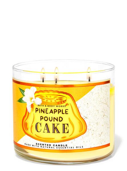 Pineapple Pound Cake fragranza Candela a 3 stoppini