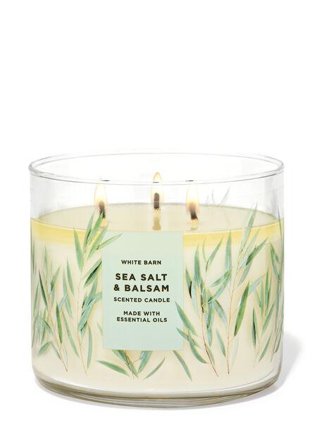 Sea Salt & Balsam fragranza Candela a 3 stoppini