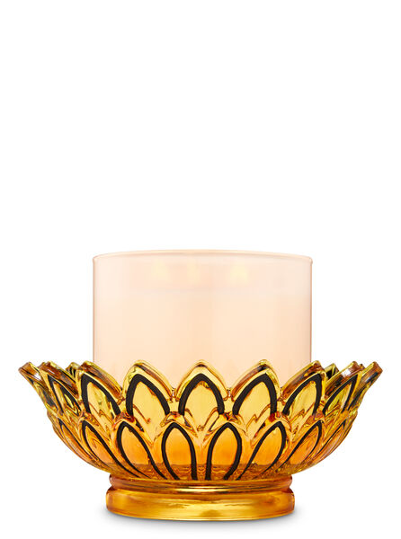 YELLOW/BLACK fragranza 3-Wick Candle Holder