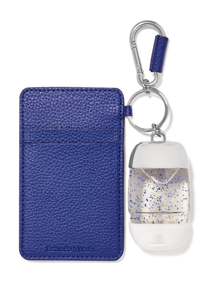 Porta tessere blu navy fragranza Porta igienizzante mani