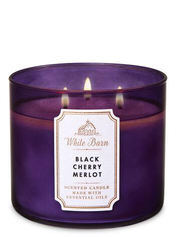 Black Cherry Merlot fragranza 3-Wick Candle