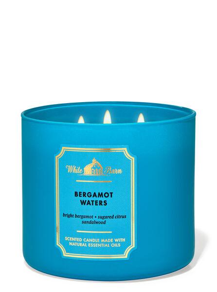Bergamot Waters fragranza Candela a 3 stoppini