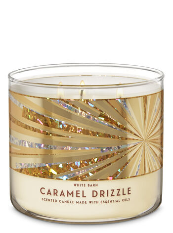 Caramel Drizzle fragranza Candela a 3 stoppini