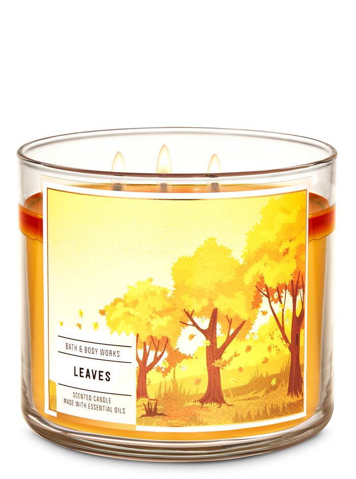 Leaves fragranza 3-Wick Candle