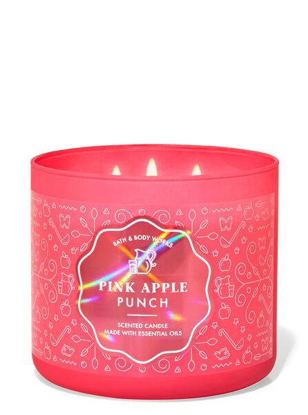 Pink Apple Punch fragranza Candela a 3 stoppini