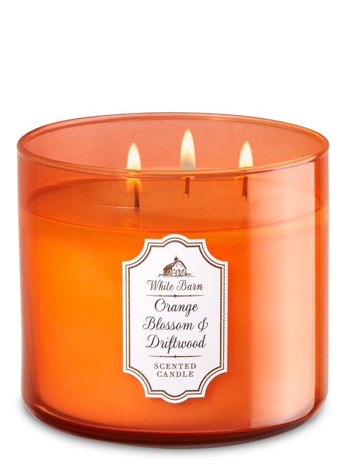 Orange Blossom & Driftwood fragranza 3-Wick Candle
