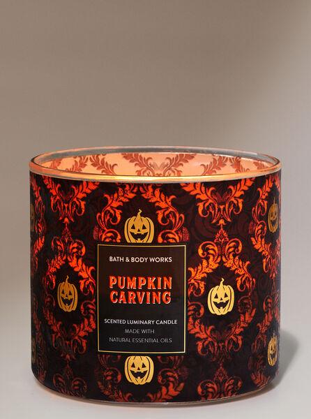 Pumpkin Carving fragranza Candela a 3 stoppini
